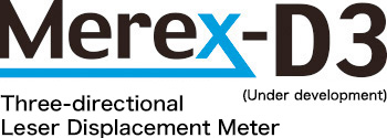 Three-directional Leser Displacement Meter Merex-D3