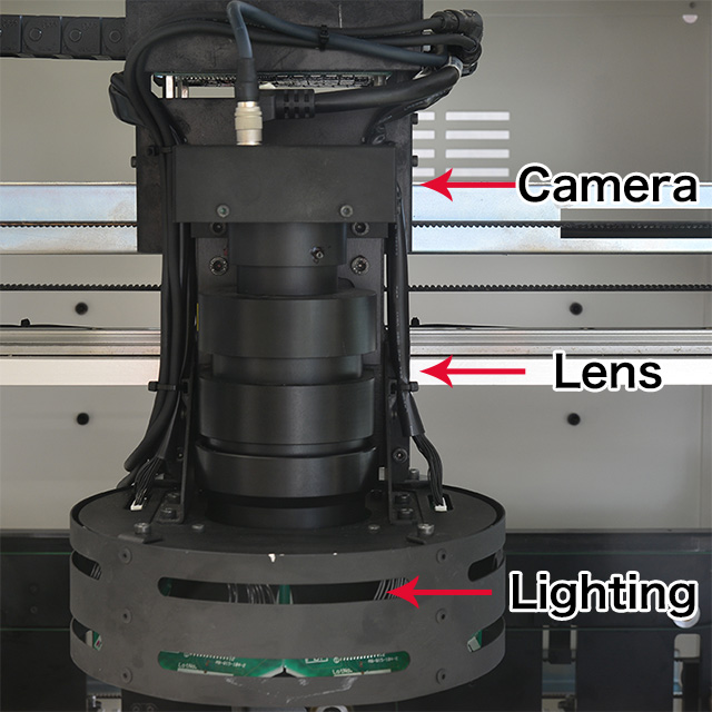 Combination of high-speed drive, high-speed imaging camera and high precision large-aperture lens, All of these are optimally and specifically designed. Achieved both performance and cost performance.